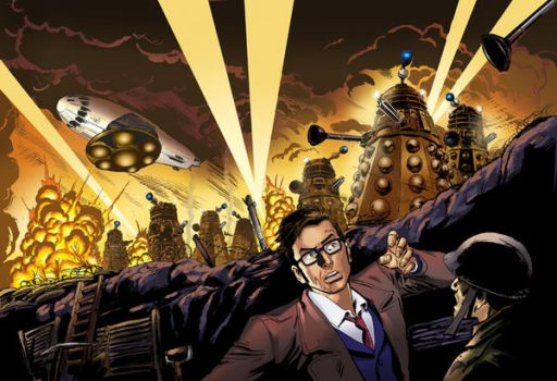 Doctor Who vs Daleks by mikecollins