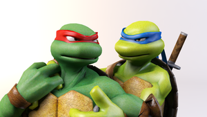 3DS Max - Raph and Leo Render by SilverMoonCrystal