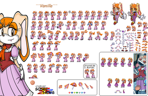 Vanilla the Rabbit Sprites by sonicnews