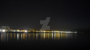 Rimini Beach at night 2 by Erleuchtete