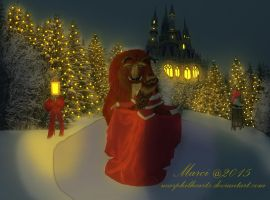 Beauty and the Beast Christmas by marphilhearts