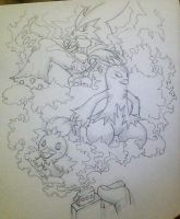 WIP Torchic Family by Adolessence