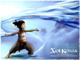 Baby Korra in Action by SolKorra