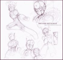 Sketch : Metalman by whitmoon