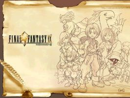 Final Fantasy IX Wallpaper by Sam-san
