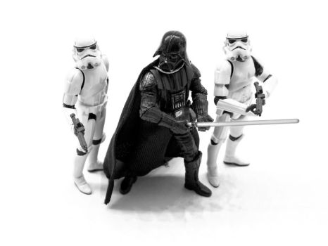Mini Vader and Troopers by theCrow65