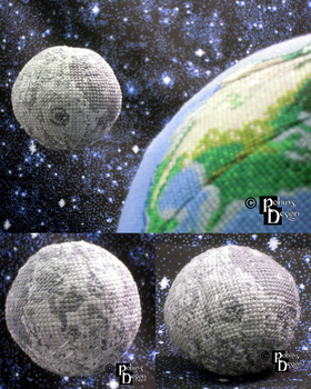 Moon Globe 3D Cross Stitch by rhaben