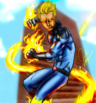 The Human Torch by infinitemind326