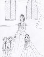Queen Anne and her children by EmpressofHeaven
