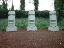 Easter Island Heads by e-s-d