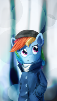 Cold Rainbow by AnticularPony