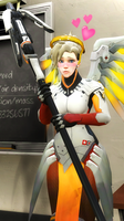 Blushing Mercy by DarknessRingoGallery