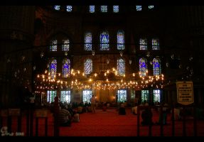 Inside Sultan Ahmed Mosque by nabed