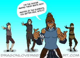 Korra be spittin' those rhymes by kmccaigue