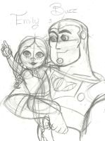 Look daddy a spaceship Sketch by TheSpaceCowgirl