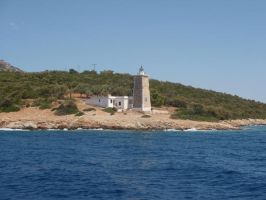 Greek Lagoon: Lighthouse by Lsr-stock