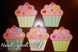 Cupcake Collection - Birthday Card by HandCraftedCards