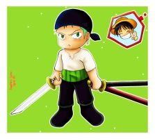 Chibi Zoro for CreamyWay by sapphireluna