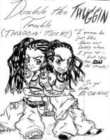 Riley's  Twins by The-Boondocks-Crew