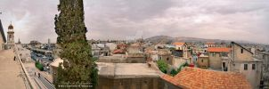 Panoramic View of Damascus by ashamandour