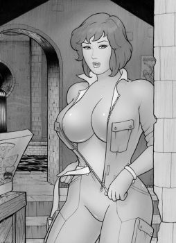 April O' Neil commish shopped by reddragon162