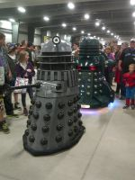 Daleks invade comiccon! by ShadowAether