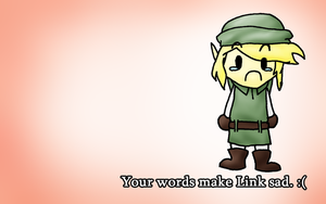 Sad Link Wallpaper by ShapelyMan