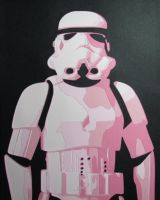 Storm Trooper (PINK) by Papergizmo