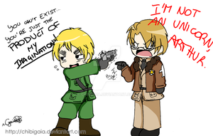 APH - Alfred isn't a unicorn, Arthur by ChibiGaia