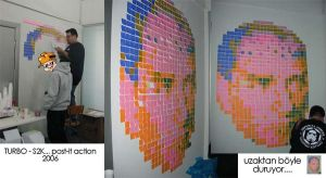 Post-it mosaic Ataturk by Turbo-S2K