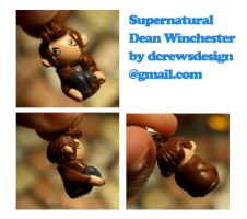 Supernatural: Dean cellphone charm by Skyelark