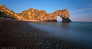 Sundown at Durdle Door by Pistolpete2007