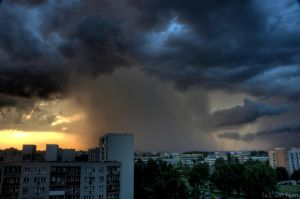Storm over the Warsaw by adamsik