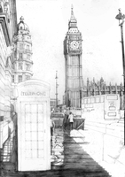 London SKETCH by Yankeestyle94