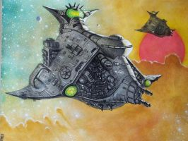 Tamulyaat: a Khick starship by chief2draws