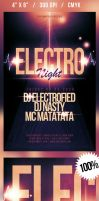 Electro Night Flyer by nadaimages