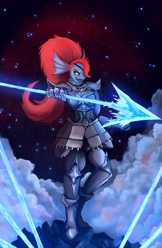 UNDERTALE Undyne by foxthrones