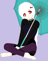 Alexandria and her umbrella by Nerdy-Butterfly