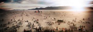Burning man Temple Panorama by Demen1