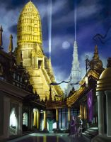 Holy Urth temples by Enkidi