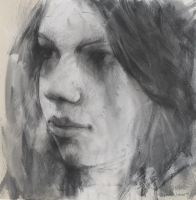 face in charcoal by derekjones