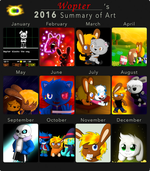 2016 summary of art by Wopter