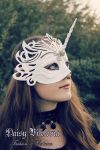 White Unicorn Mask by DaisyViktoria