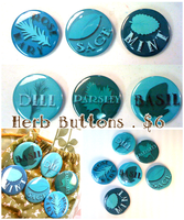 Herb Buttons - Set of Six - by Ukeaco