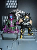 Kang and Wolverine by Figurinett