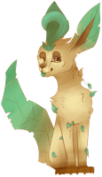 leafeon [ pokemon request ] by canine-rein