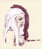 Daenerys Targaryen Game of Thrones Sara Pichelli by AshcanAllstars