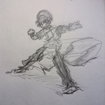 Toph Beifong Sketch by PyrodianBrony