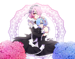 Ram and Rem by DehSofa
