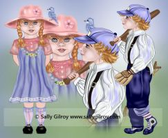 Daisy and Buster Blue SGG by sallygilroy
